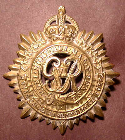 Cap Badges - World War Two - Corps and Supporting Services