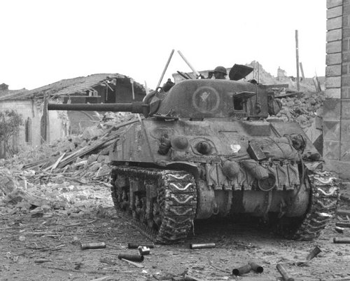 Image result for ww2 british sherman tank normandy
