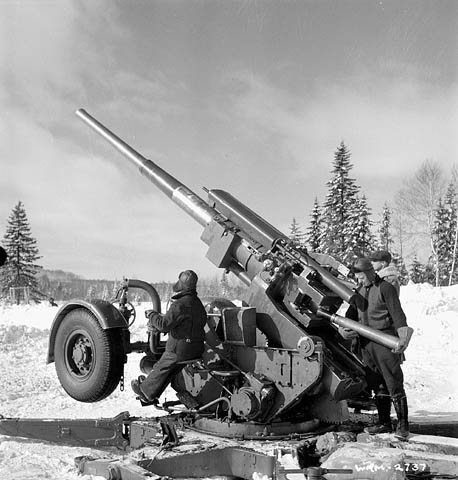 Image result for British 3.7 inch Artillery gun